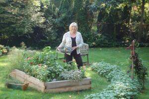 Paula at her garden